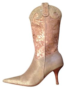 Diego di Lucca Formal Wedding Cowboy Formal gold/ tan Boots