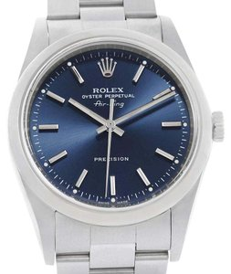 Rolex Rolex Air King Blue Baton Dial Steel Mens Watch 14000 Box Papers