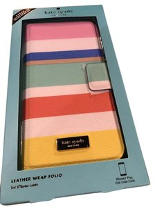 Kate Spade IPHONE 7 Plus NWT DUNE STRIPE WRAP FOLIO CASE