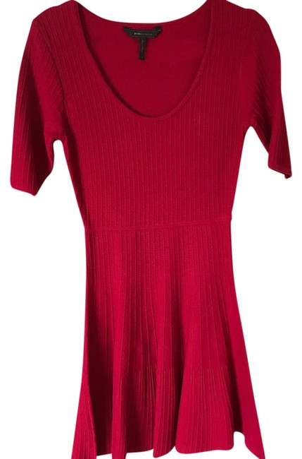 Item - Red Mid-length Short Casual Dress Size 8 (M)