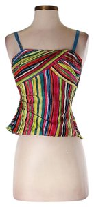 Trina Turk Bright Striped Boning Top