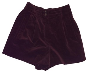 Jil Sander High Waist Velvet Alexander Wang Dress Shorts dark plum