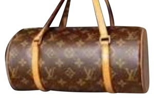 Louis Vuitton Leather Monogram Tote in Monogram Canvas