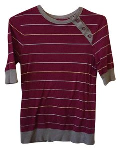 Fossil T Shirt Red and grey