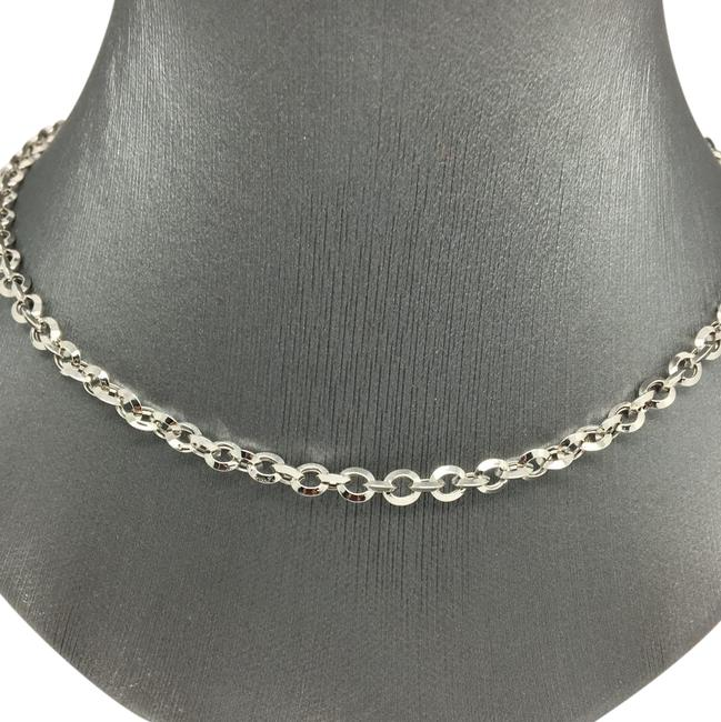 18k White Gold Cable Chain Necklace 18k White Gold Cable Chain Necklace Image 1