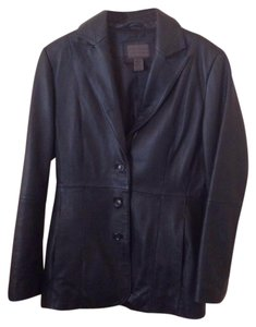 Uniform John Paul Richard Lamb Blazer black Leather Jacket