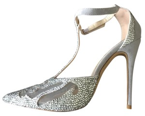 JJsHouse‎ Weddings Special Occassions Stillettos Rhinestones Grey/Silver Pumps