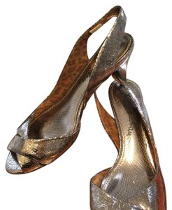 Sam Edelman Kitten Heel Metallic Wedding antique copper, pewter, gold Formal