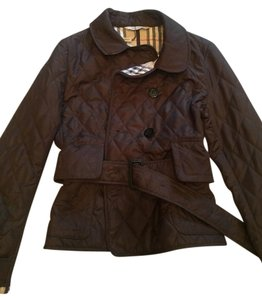 Burberry London Classic Quilted Chocolate Brown Jacket