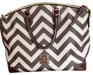 Dooney & Bourke Satchel in taupe and brown