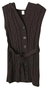 Old Navy Cable Knit Vest Tunic Brown Sweater