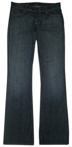 Rock & Republic 5 Style Zip Fly Cotton/spandex Back Flap Pockets Boot Cut Jeans-Dark Rinse