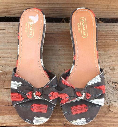 Coach Chocolate Brown Sandals