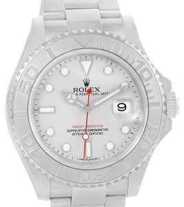 Rolex Rolex Yachtmaster Stainless Steel Platinum Dial Watch 116622 Box Paper
