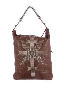 Thomas Wylde Skull Leather Chain Hobo Bag