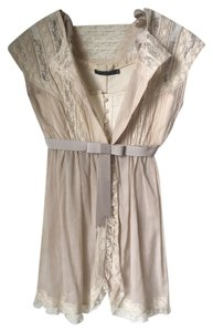 Alexander McQueen With Tags Silk Victorian Vintage Top Beige