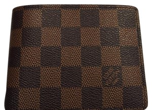 Louis Vuitton Louis Vuitton multiple wallet Damier Ebene Canvas