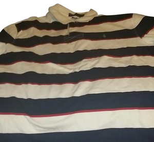 Polo Ralph Lauren T Shirt Red and navy blue and white