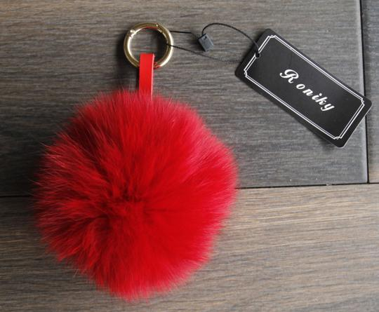 Roniky BRAND NEW - Genuine Fox Fur Pom Pom Puff Bag Charm Key Chain