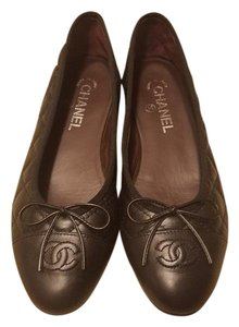 Chanel Calfskin Leather Quilted Black Flats