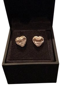 Juicy Couture Juicy Couture Gold Pave Heart Stud Earrings