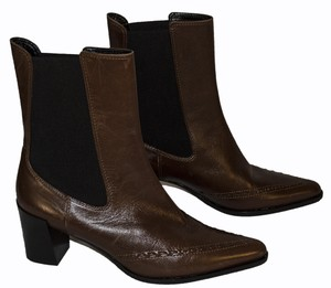 Derek Lam brown /black Boots
