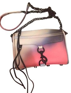 Rebecca Minkoff Mini Mac Leather Pink Cross Body Bag