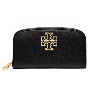 Tory Burch Britten Zip Continental Wallet, Black
