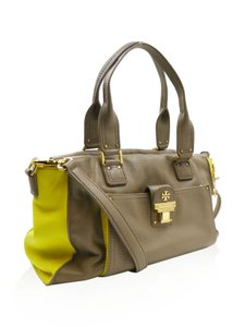Tory Burch Satchel in Taupe Yellow