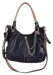 Guess Satchel in Black/ Taupe