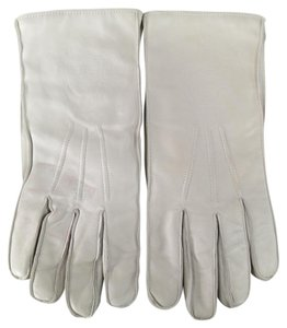 Versace Vintage GIANNI VERSACE gloves in a soft cool tone ivory leather with t