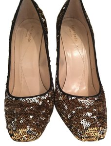 Kate Spade Silver and Gold Pumps