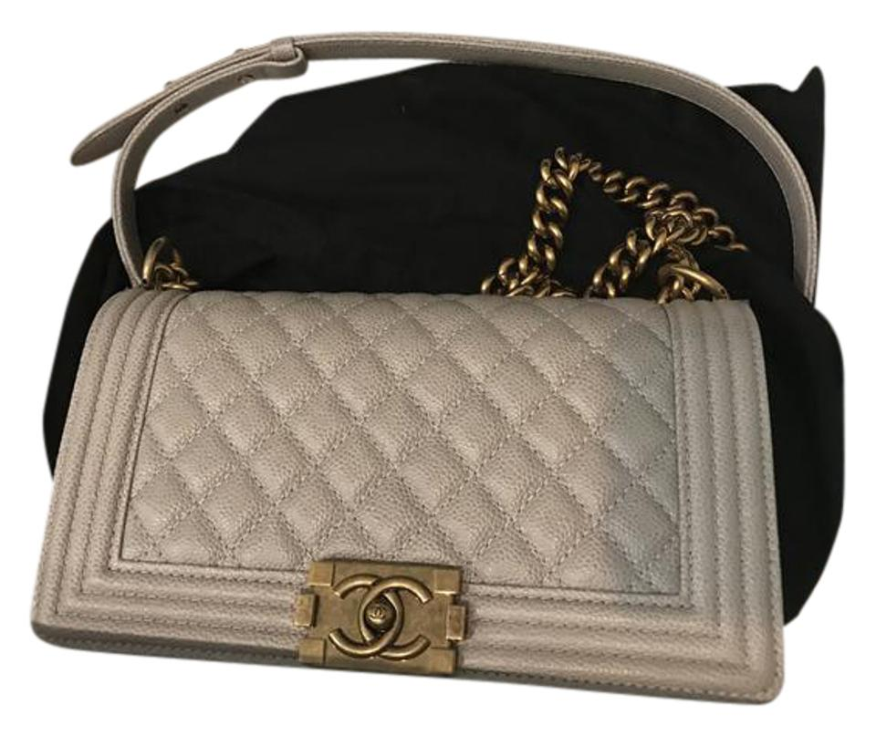 a491f8d65926 Chanel Grey Caviar Boy Shoulder Bag - Tradesy