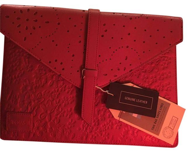 Item - Tablet Sleeve Red Leather Clutch