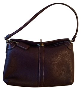 Coach Leather Wristlet in Plum