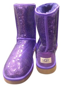 UGG Boots Ugg Sequin Uggs Limited Edition Purple Sequin Boots