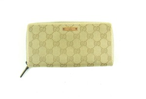 Gucci Vintage Zippy GG Canvas Leather Zip Clutch Long Wallet