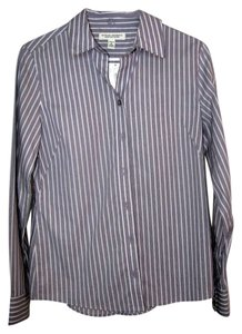 Banana Republic Button-down Top light purple striped