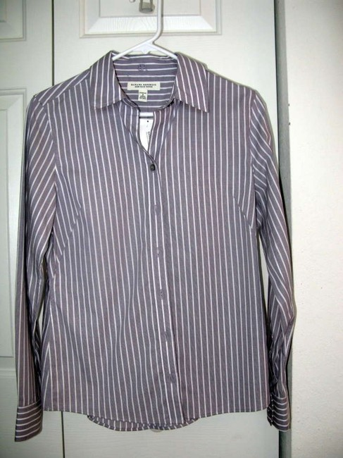 Banana Republic Button-down Office Work Top light purple striped