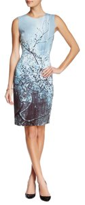 Elie Tahari short dress Blue Multi Scuba Material on Tradesy