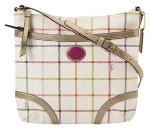 Coach Checker Leather Cross Body Bag