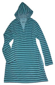 Boden short dress Turquoise Blue Towelling Beach/pool Terry Cloth Striped on Tradesy