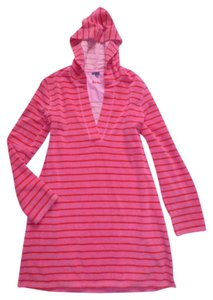 Boden short dress Pink Red Towelling Terry Cloth Beach Pool Hooded Cover Up on Tradesy