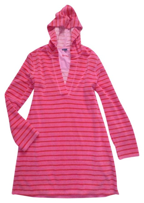 Preload https://img-static.tradesy.com/item/20556428/boden-pink-red-striped-terry-cloth-beach-pool-towelling-cover-up-tunic-short-casual-dress-size-10-m-0-1-650-650.jpg