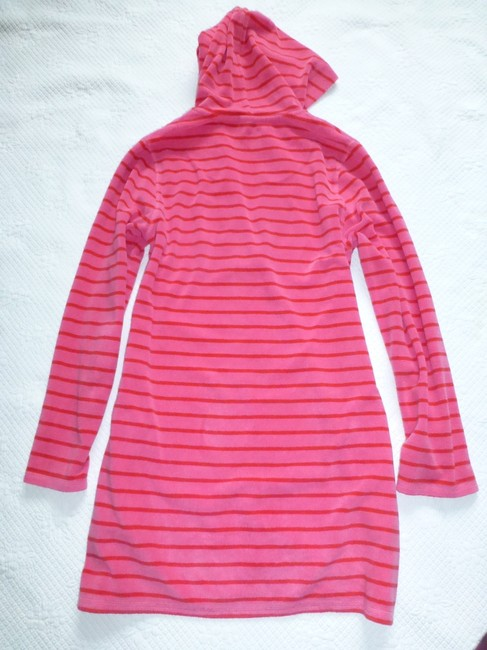 Boden short dress Pink Red Towelling Terry Cloth Beach Pool Hooded Cover Up on Tradesy Image 3