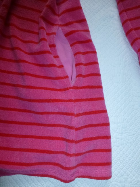 Boden short dress Pink Red Towelling Terry Cloth Beach Pool Hooded Cover Up on Tradesy Image 4