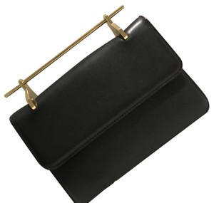 M2Malletier Vintage Leather black Clutch