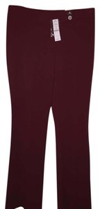 White House | Black Market Quality Dress Office Stretchy Trouser Pants Maroon