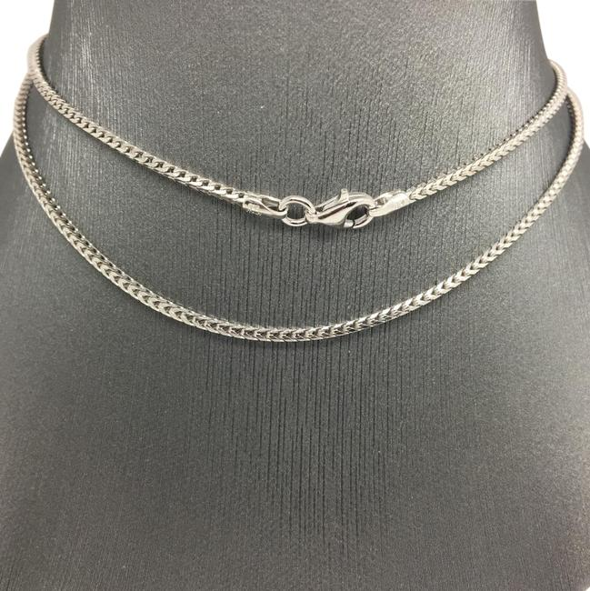 925 Rhodium Sterling Silver Franco Chain 20 Inches ~1.50mm Necklace 925 Rhodium Sterling Silver Franco Chain 20 Inches ~1.50mm Necklace Image 1