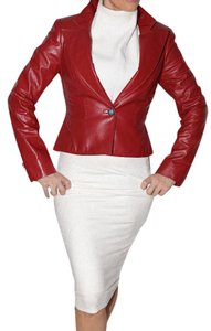 David Rodriguez Burgundy Leather Jacket